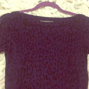Blue and black leopard sweater